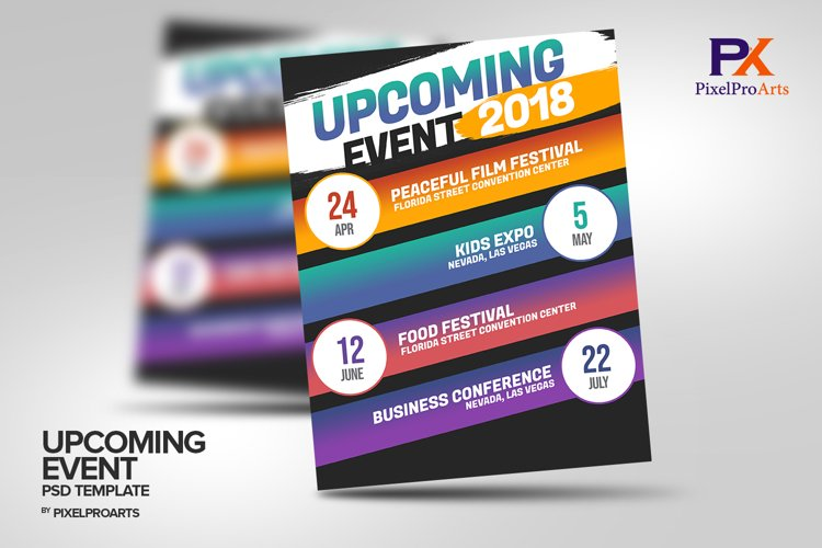 Upcoming Event Calendar PSD Template example image 1