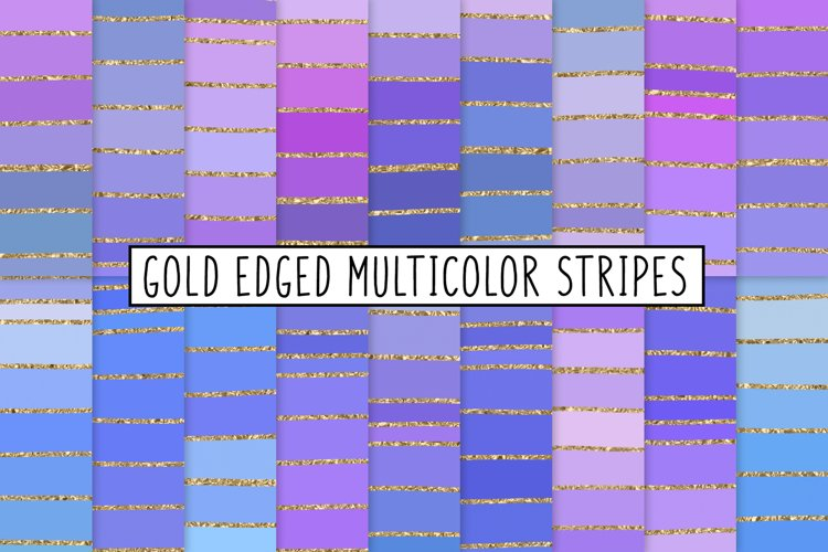 Gold Edged Multicolor Stripes example image 1