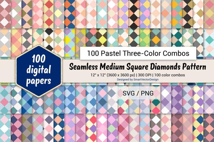 Medium Square Diamonds Paper - 100 Pastel Three-Color Combos example image 1