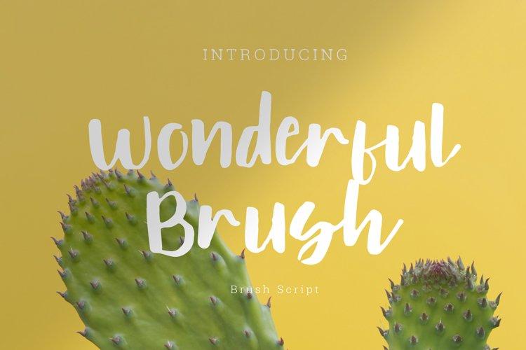 wonderful brush Font Script example image 1