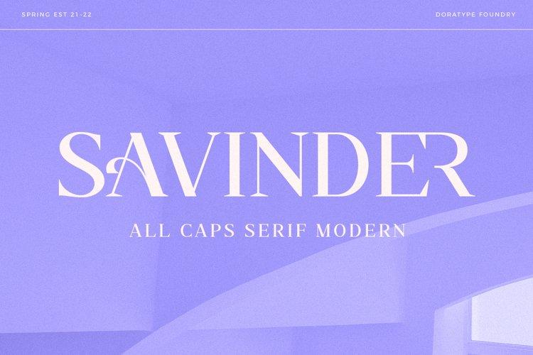 Savinder - All Caps Serif