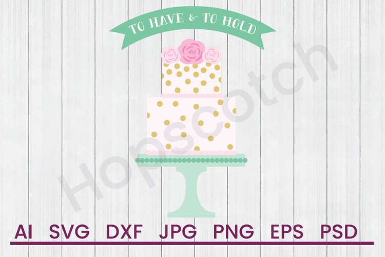 Wedding Cake SVG, Vows SVG, DXF File, Cuttatable File example image 1