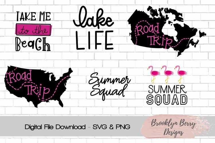 Summer lake beach svgs example image 1