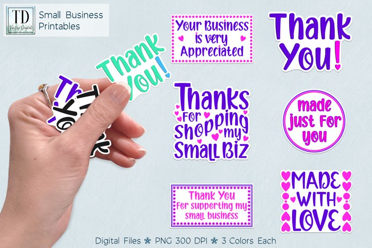 Small Business Printable Stickers Vol.2, Print & Cut