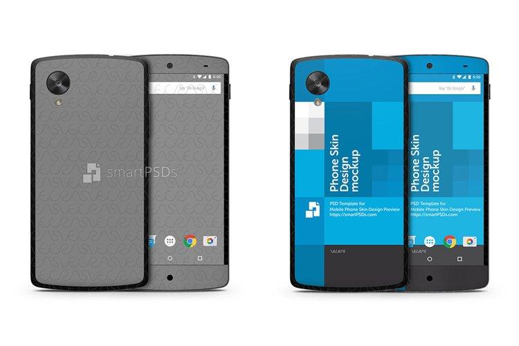 Google Nexus 5 Mobile Skin Design Template 2015 example image 1