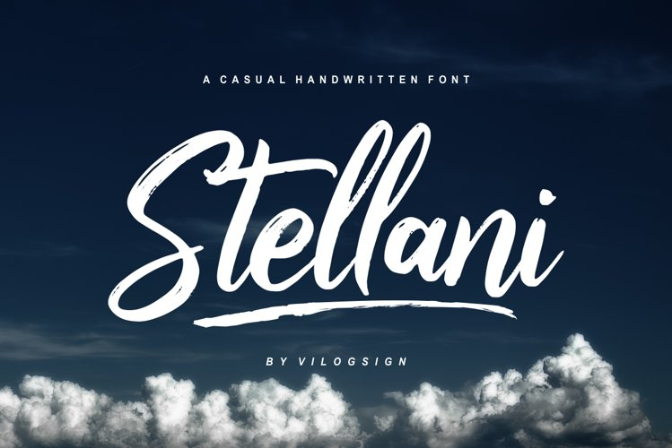 Stellani // a Casual Handlettering Font example image 1