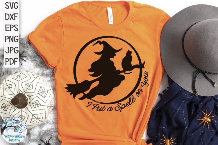 I Put A Spell On You Witch SVG | Halloween SVG Cut File example image 1