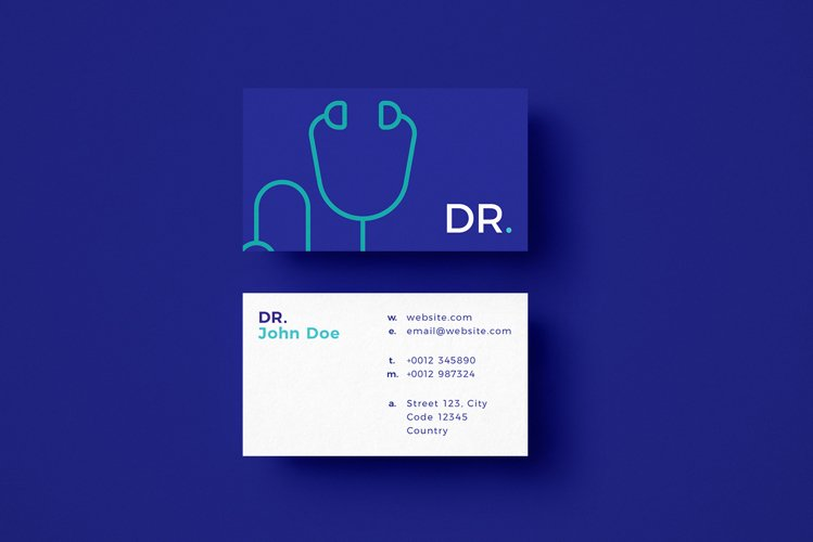 Doctor Minimalistic Business Card Template example image 1