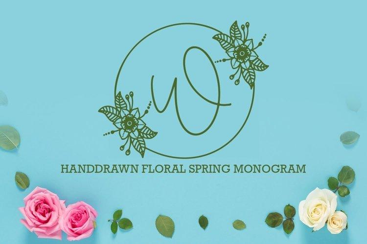 Web Font Floral Spring Monogram example image 1