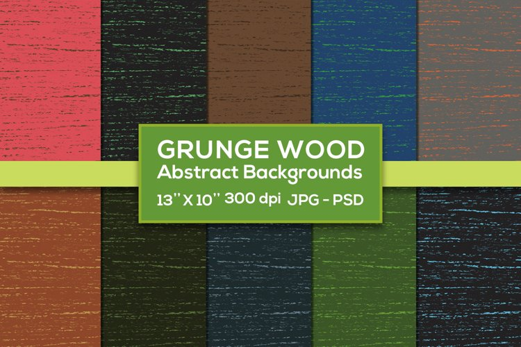 Grunge Wood Abstract 10 Backgrounds example image 1