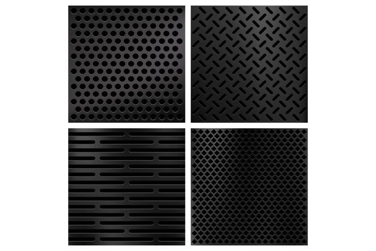 Kevlar fiber carbon vector textures set example image 1