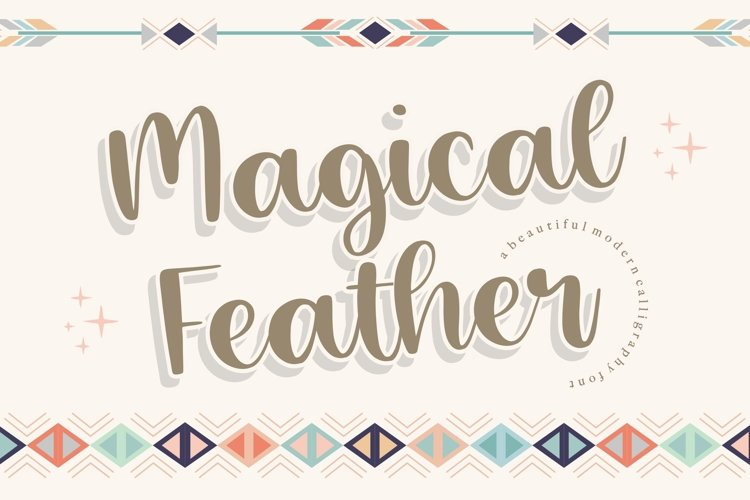 Magical Feather Beautiful Modern Calligraphy Font example image 1