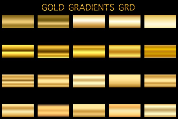 Photoshop Gold gradients