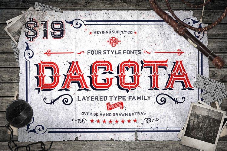 Dacota Layered Typeface & Extras example image 1