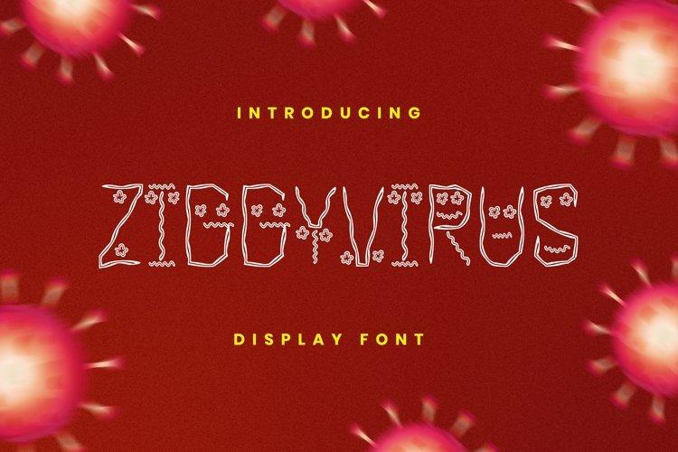 Web Font Ziggy Virus Font example image 1