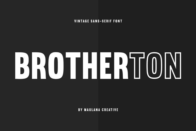 Brotherton Vintage Sans Serif Font Typeface example image 1