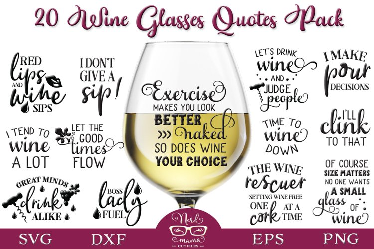 Wine Glasses Quotes Pack example image 1