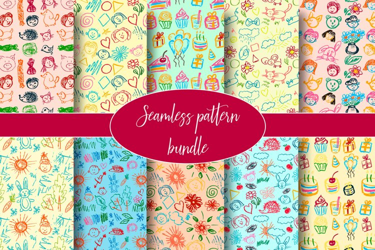 Cute stylish seamless pattern. Draw pictures