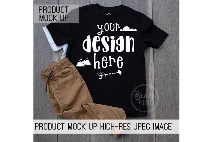 Kids Black Shirt Mock up Product Mock up