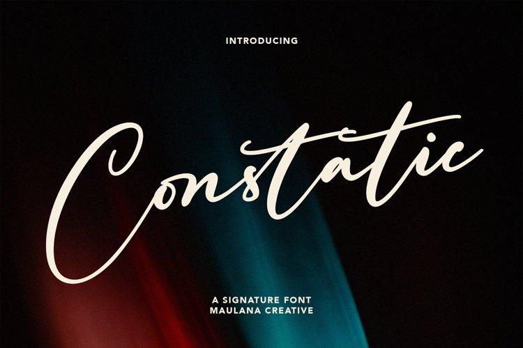 Constatic Signature Font example image 1