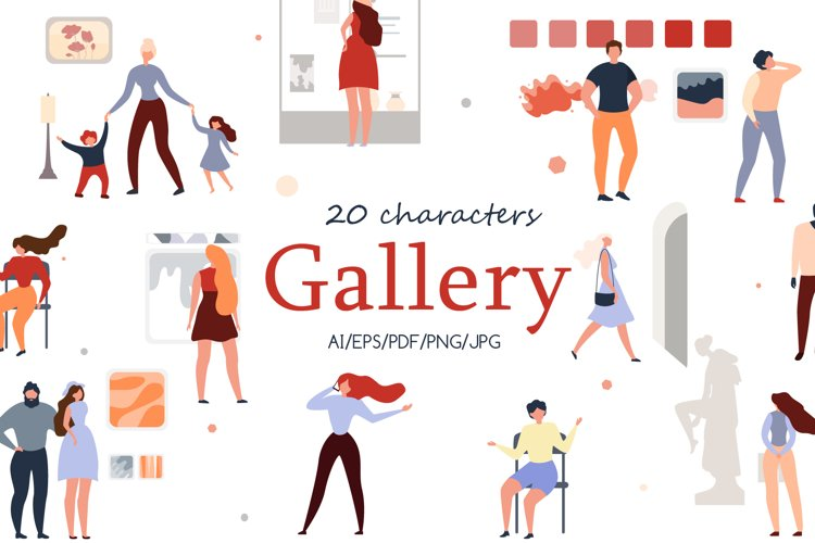 Gallery Charactery Flat Collection example image 1