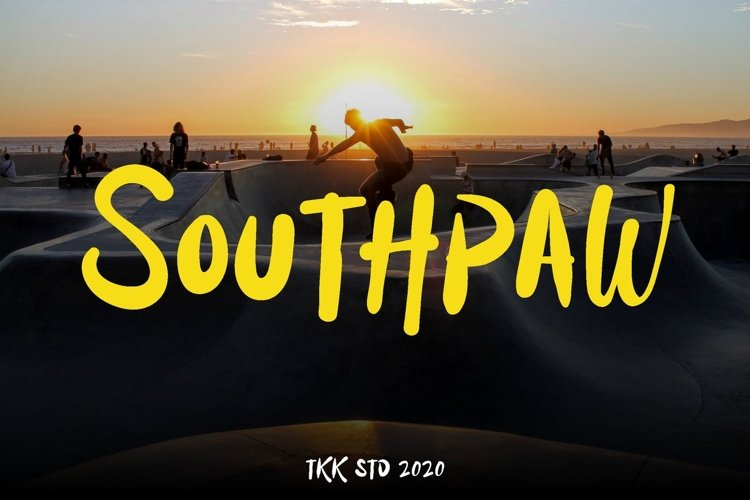Southpaw - Graffiti Signature Font example image 1