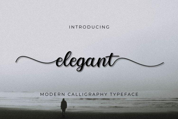Elegant script example image 1