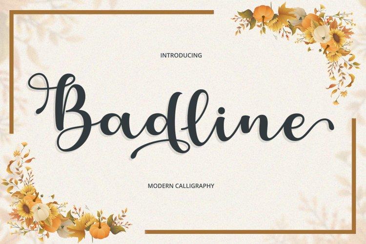 Badline Script example image 1