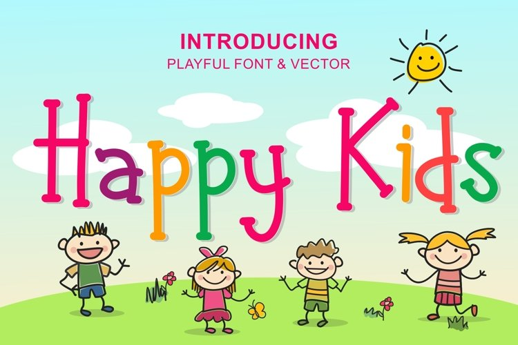 Happy Kids - Playful Font example image 1