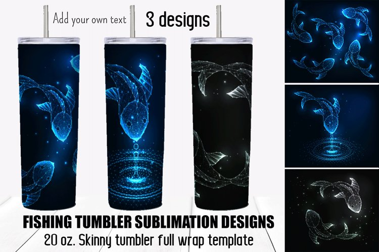 Fishing tumbler sublimation designs. Fathers Day gift.