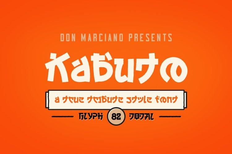 Kabuto Tribute Font example image 1
