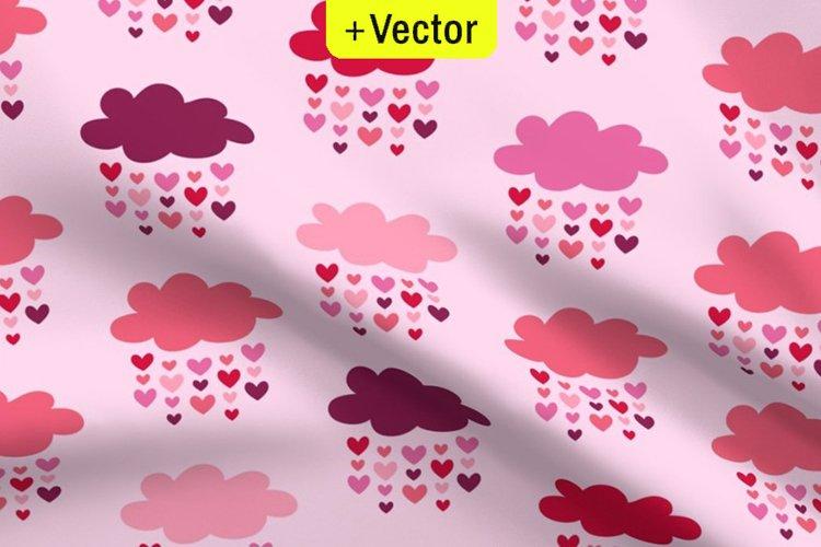 Vector Valentines seamless pattern Raining love hearts
