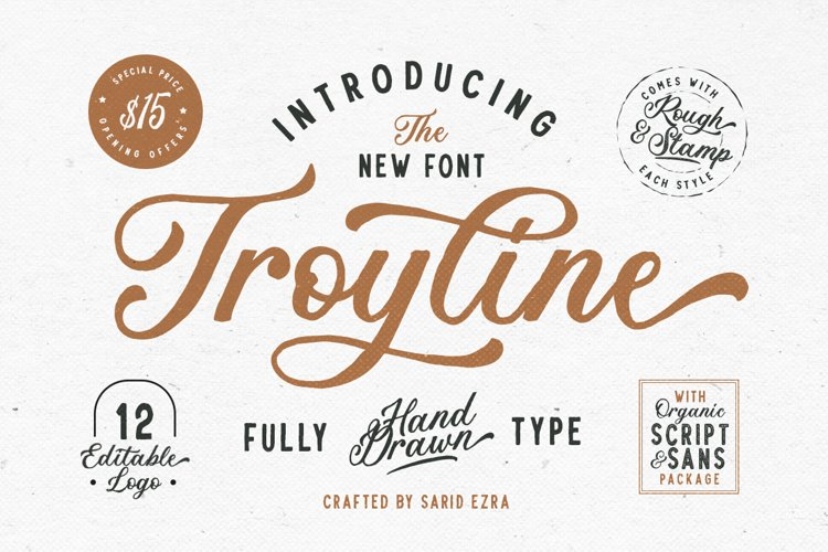 Troyline - Font Duo