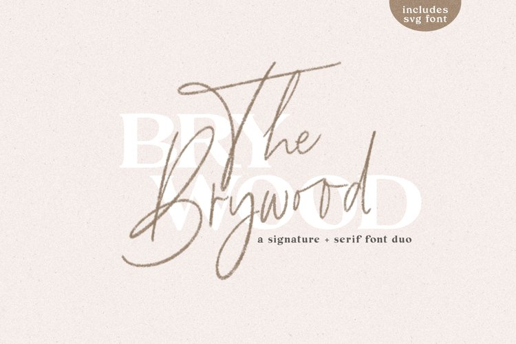 The Brywood - A Handwritten Script & Serif Font Duo example image 1