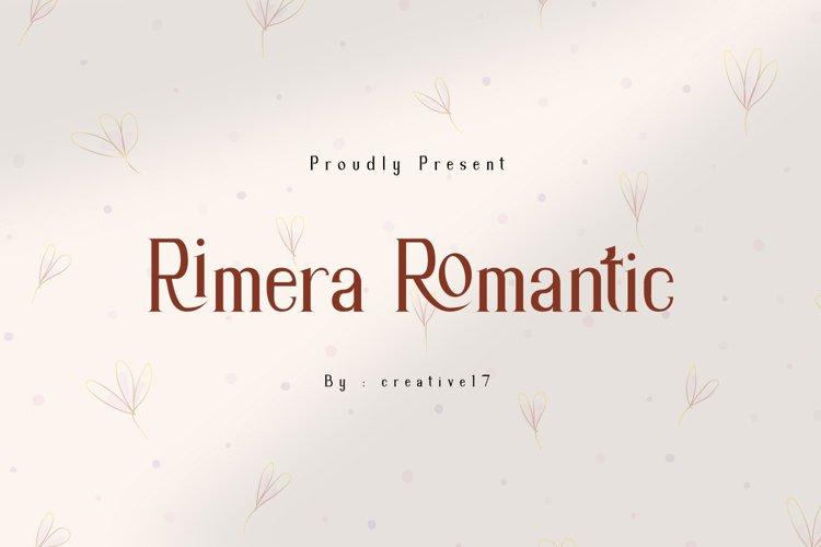 Rimera Romantic Serif Font example image 1