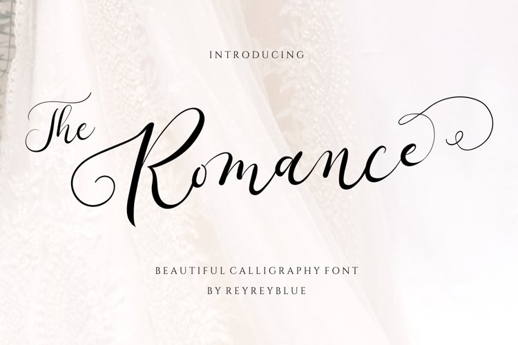 The Romantic - Wedding Font example image 1