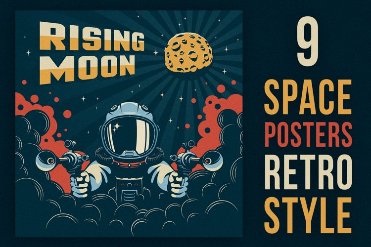 Space Poster Retro Style
