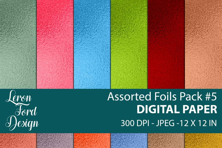 Assorted Foil Textures Pack #5 Digital Paper example image 1