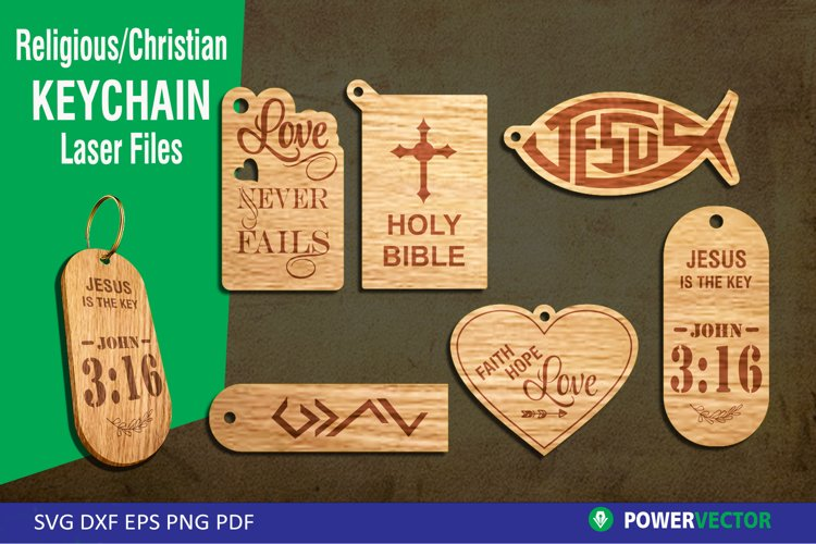Keychain laser Files| Christian SVG, CNC Files