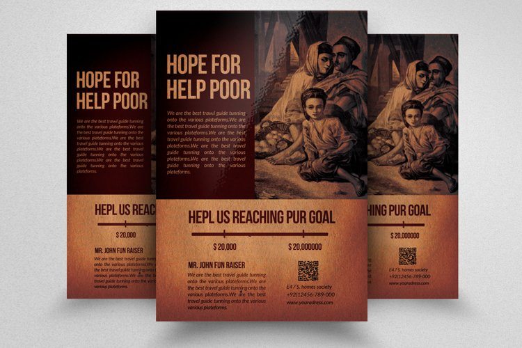 Charity Fund Flyer Template example image 1