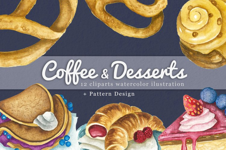 Coffee & Dessert Watercolor