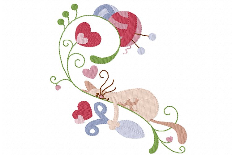 Knitting Kittens 3 Machine Embroidery Design in 3 sizes example image 1