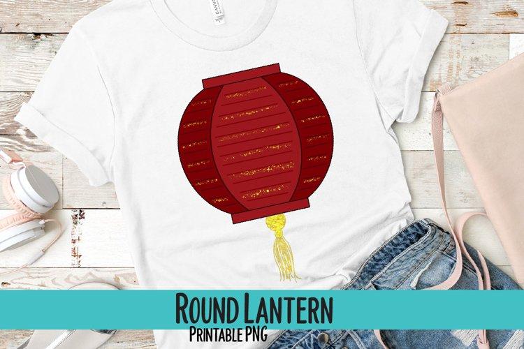 Round Lantern Sublimation PNG example image 1