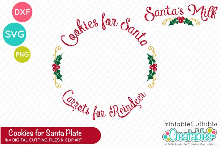 Cookies for Santa Plate SVG example image 1