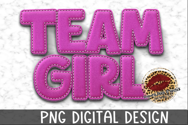 Sublimation Team Girl Baby Gender Reveal example image 1