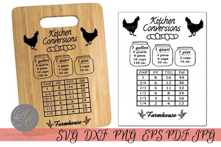 Farmhouse Kitchen Conversion Chart Print or SVG BEST SELLER