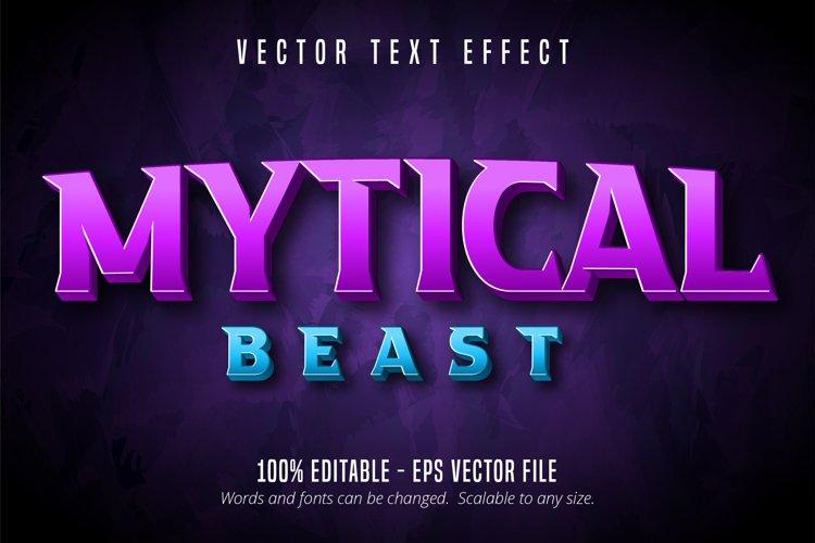 Mytical beast text, 3d editable text effect example image 1