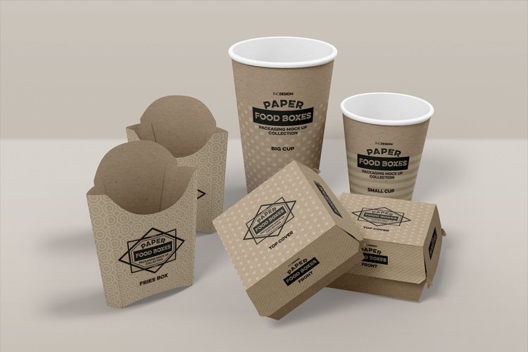 Fast Food Branding and Packaging Free Mockup Template example