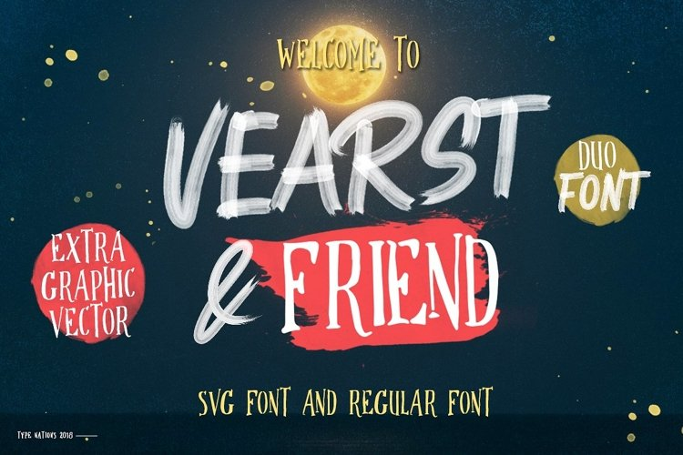 Vearst And Friend SVG Font Duo Extra Graphic Vector example image 1