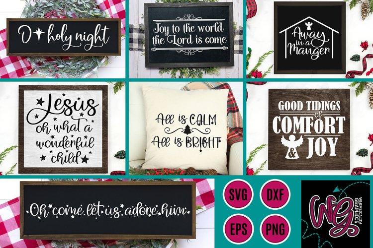 Christmas Hymns Bundle SVG, DXF, PNG, EPS